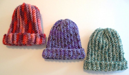 Ribbed Baby Hats