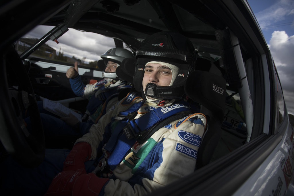 Banaz Bugra and Erdener Burak, Castrol Ford Team Türkiye, Ford Fiesta R2T ERC Junior U27 ambiance portrait during the 2017 European Rally Championship ERC Liepaja rally,  from october 6 to 8, at Liepaja, Lettonie - Photo Gregory Lenormand / DPPI