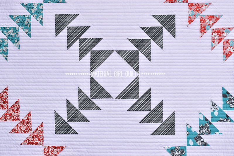 Criss Cross Quilt by Amanda Castor of Material Girl Quilts