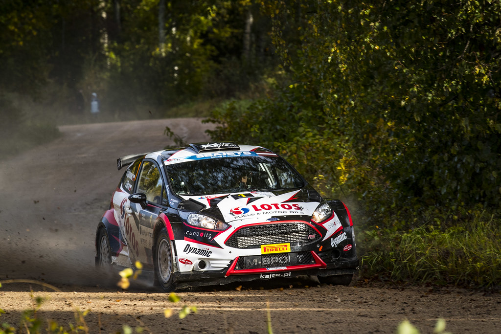 01 Kajetanowicz Kajetan and Baran Jaroslaw, Lotos Rally Team, Ford Fiesta R5 action during the 2017 European Rally Championship ERC Liepaja rally,  from october 6 to 8, at Liepaja, Lettonie - Photo Gregory Lenormand / DPPI