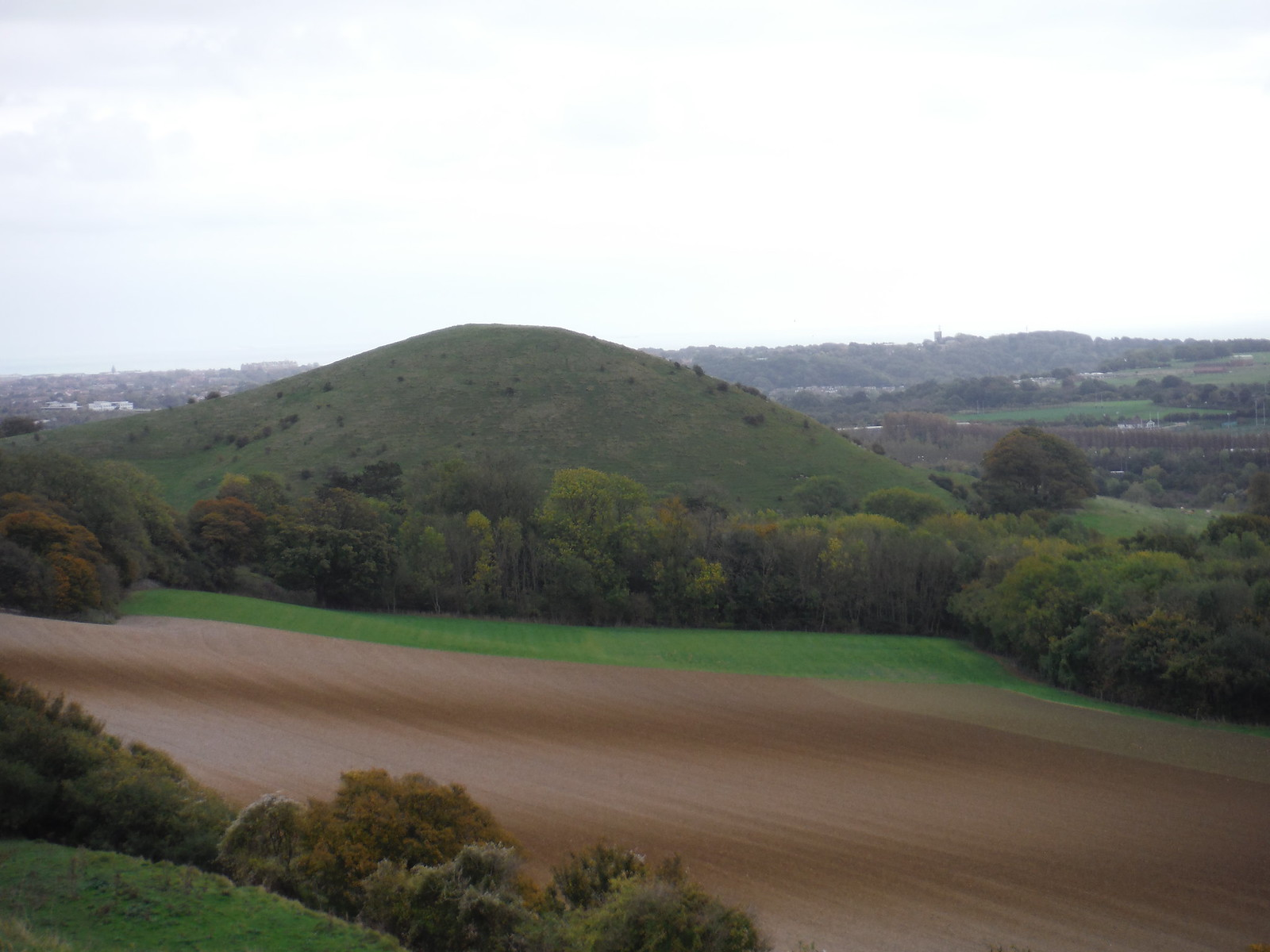 Summerhouse Hill from Tolsford Hill SWC Walk 93 - North Downs Way: Sandling to Folkestone or Dover
