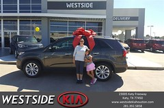 Happy Anniversary to April on your #Kia #Sorento from Rubel Chowdhury at Westside Kia!