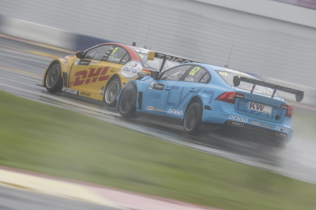 62 BJORK Thed (swe) Volvo S60 Polestar team Polestar Cyan Racing action   during the 2017 FIA WTCC World Touring Car Championship at Shanghai, China, ningbo,13 to 15 - Photo Frederic Le Floc'h / DPPI