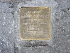 A Stolperstein (stumbling stone) in Calle Ghetto Vecchio, Venice