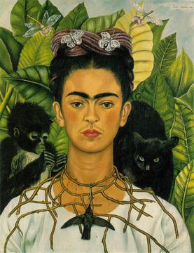 Autorretrato con collar de espinas (1940), Frida Kahlo