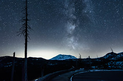 Mt St Helens and Milky Way in October
