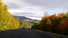 Driving to Stowe, Vermont from Lincoln, New Hampshire