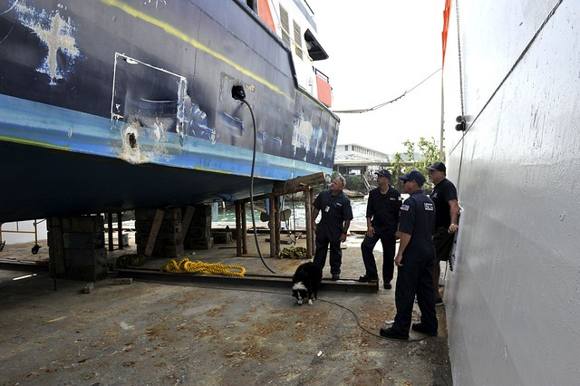 Coast Guard marine inspectors work to clear commercial boats for safe operation in St. Thomas