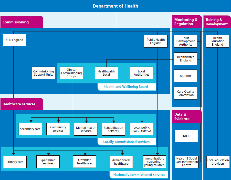 NHS structure diagram