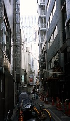 One scene in back alley of Ginza 2017/07 No.2(taken by film camera).