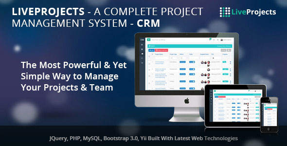 LiveProjects v3.0 – Complete Project Management CRM