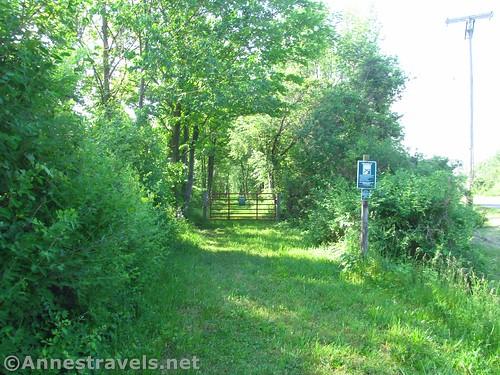Goose Street Trailhead for the Ontario Pathways Rail Trail, New York