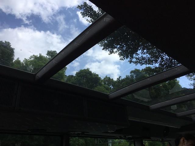 雙層巴士前半段有天窗,天氣超好~