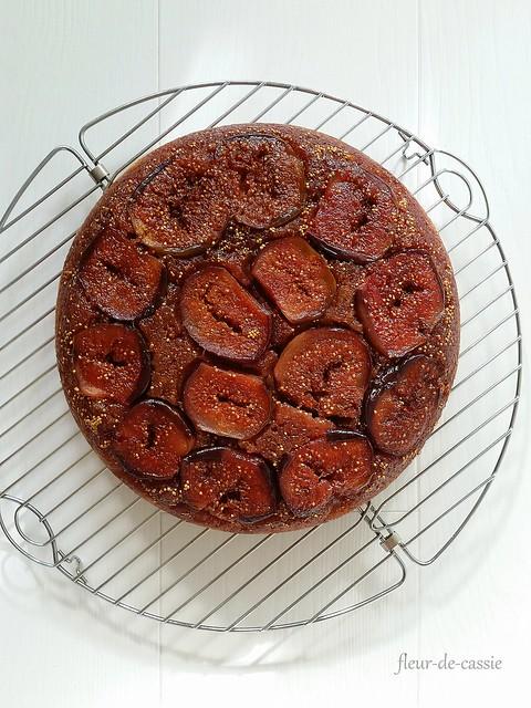перевернутый пирог с инжиром
