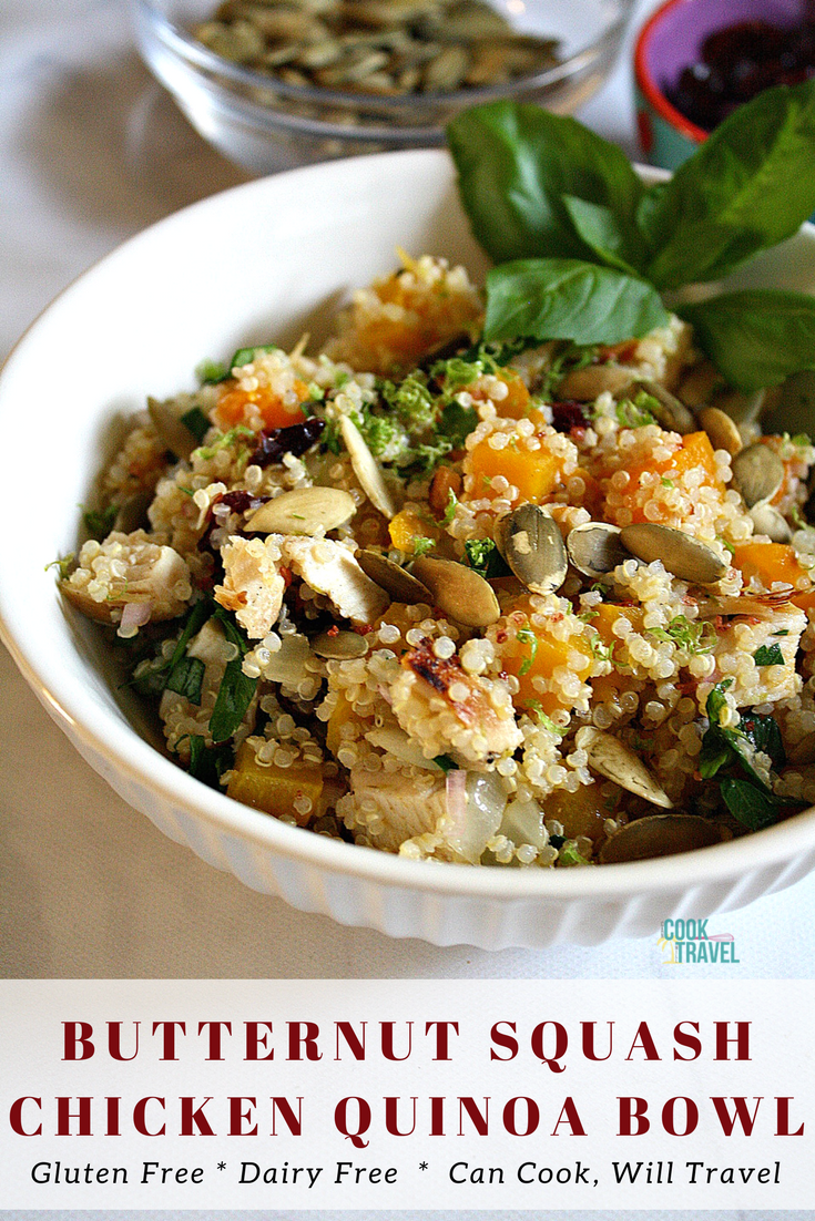 Butternut Squash Chicken Quinoa Bowl