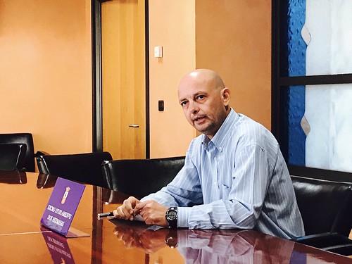 Francisco Rodríguez, concejal de Obras, rueda de prensa en el Ayuntamiento