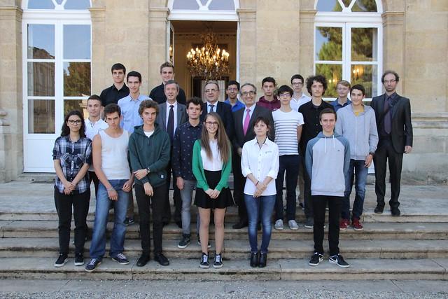 Remise des prix aux lauréats des Olympiades académiques de mathématiques