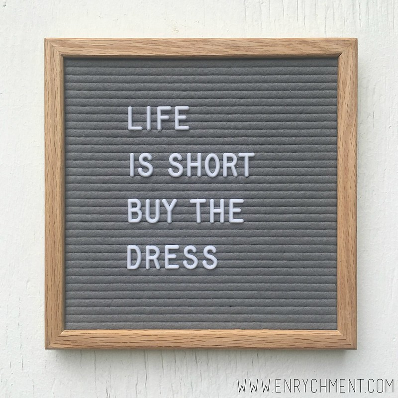 buy the dress letterboard