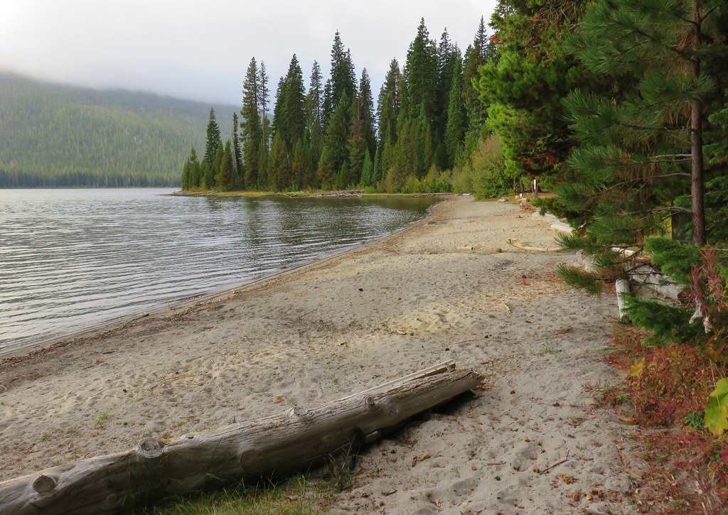 Beach along Cultus Lake