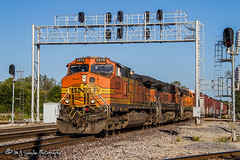 BNSF 5270   GE C44-9W   BNSF Thayer South Subdivision