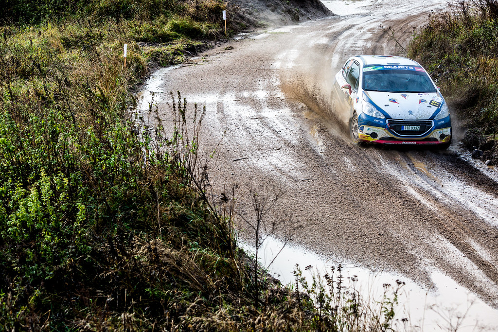 19 Mares Filip and Hlousek Jan, ACCR Czech Team, Peugeot 208 R2 ERC Junior U27 action during the 2017 European Rally Championship ERC Liepaja rally,  from october 6 to 8, at Liepaja, Lettonie - Photo Thomas Fenetre / DPPI