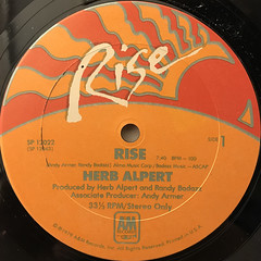 HERB ALPERT:RISE(LABEL SIDE-A)