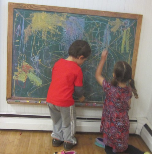 drawing on the chalk board