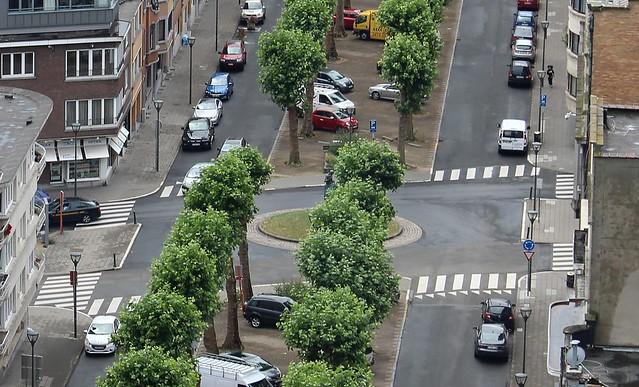 Zebra crossings in Brussels