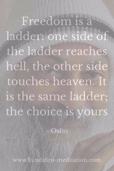 Freedom is a ladder