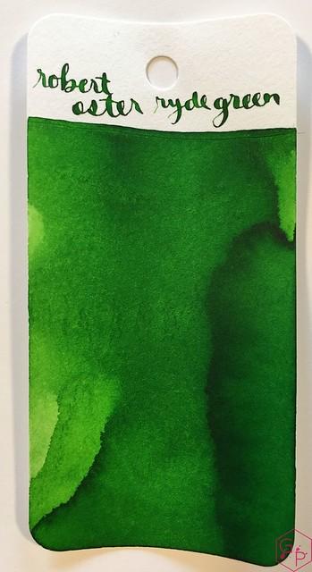 Ink Shot Review @RobertOsterInk Ryde Green @MilligramStore 1