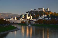 Autumn evening in Salzburg
