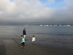 David And The Girls On The Beach In Lincolnville