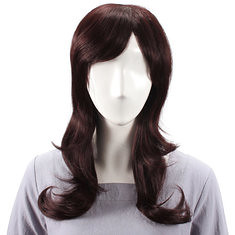 Long Charming Side Bang Human Hair Wig Virgin Remy Mono Top Capless (989848) #Banggood