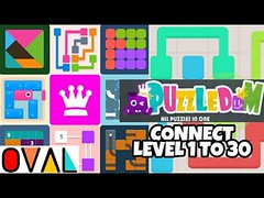 Puzzledom CONNECT Game Level 1 to 30 Novice A Complete Lines In Mutiple Bright Colours   OVAL