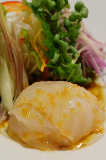 中華風白身魚の刺身サラダ仕立て
