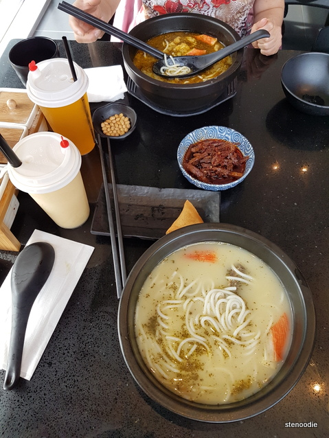 rice noodles on table