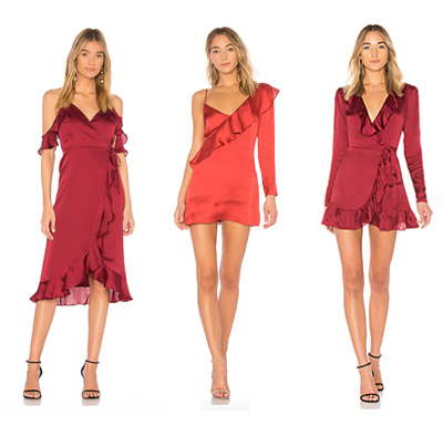 Red Dresses from Revolve