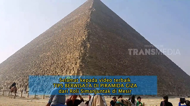 Liputan Piramida Giza Menjadi Best Video di CAM ON, TRANS7