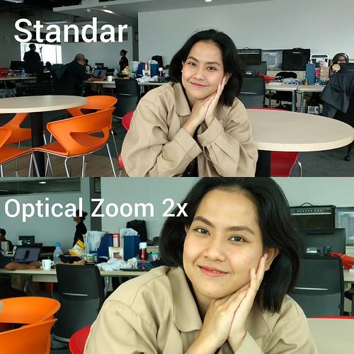 Hasil foto dengan modus Standar dan Optical Zoom 2x