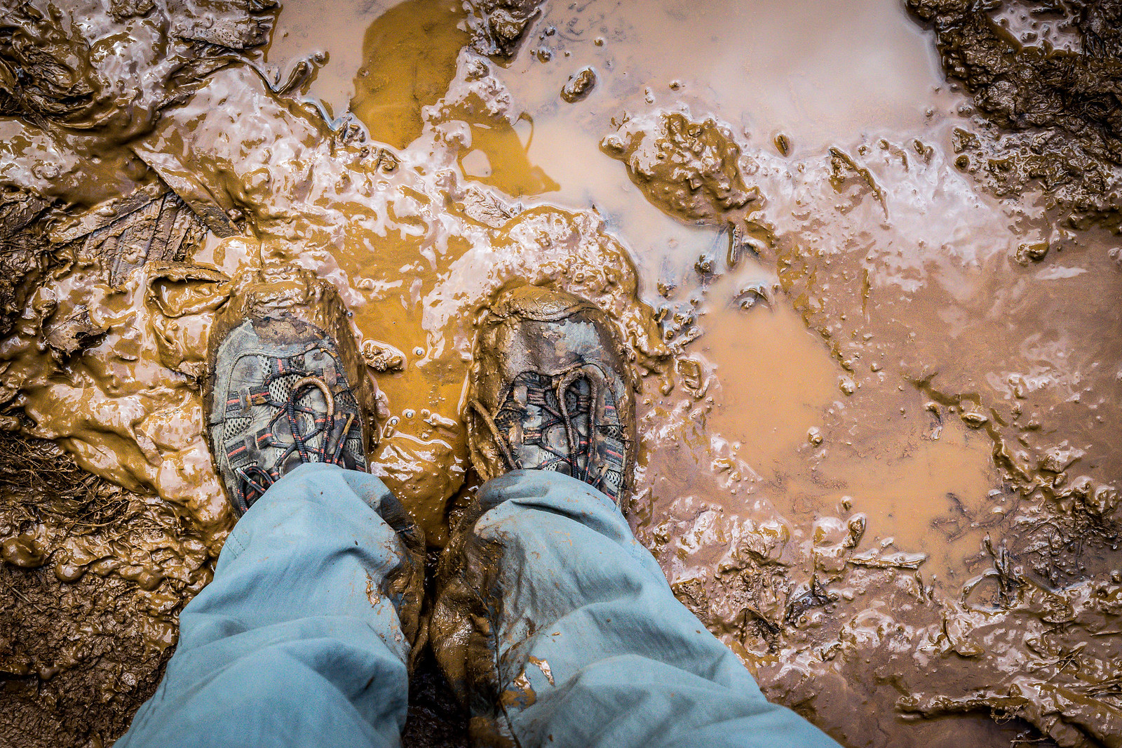 oh yeah, it's pretty muddy too