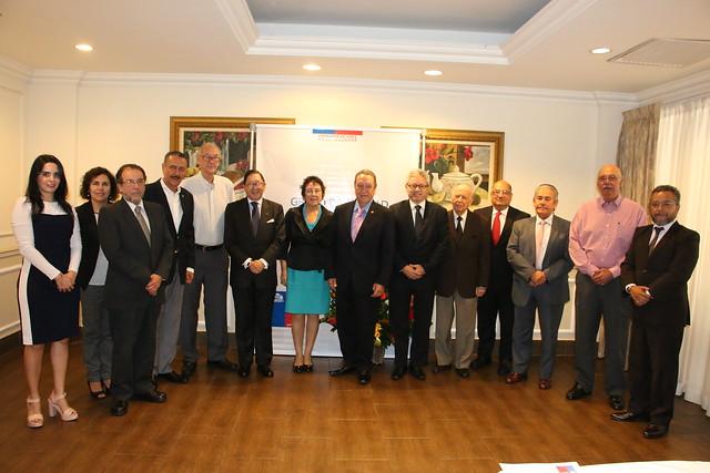 Vinicio Cerezo participa en reunión de trabajo con el Grupo Salvadoreño por la Paz en Colombia