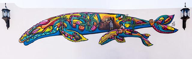 beautiful new mural at Villas Santo Nino, Loreto, Baja