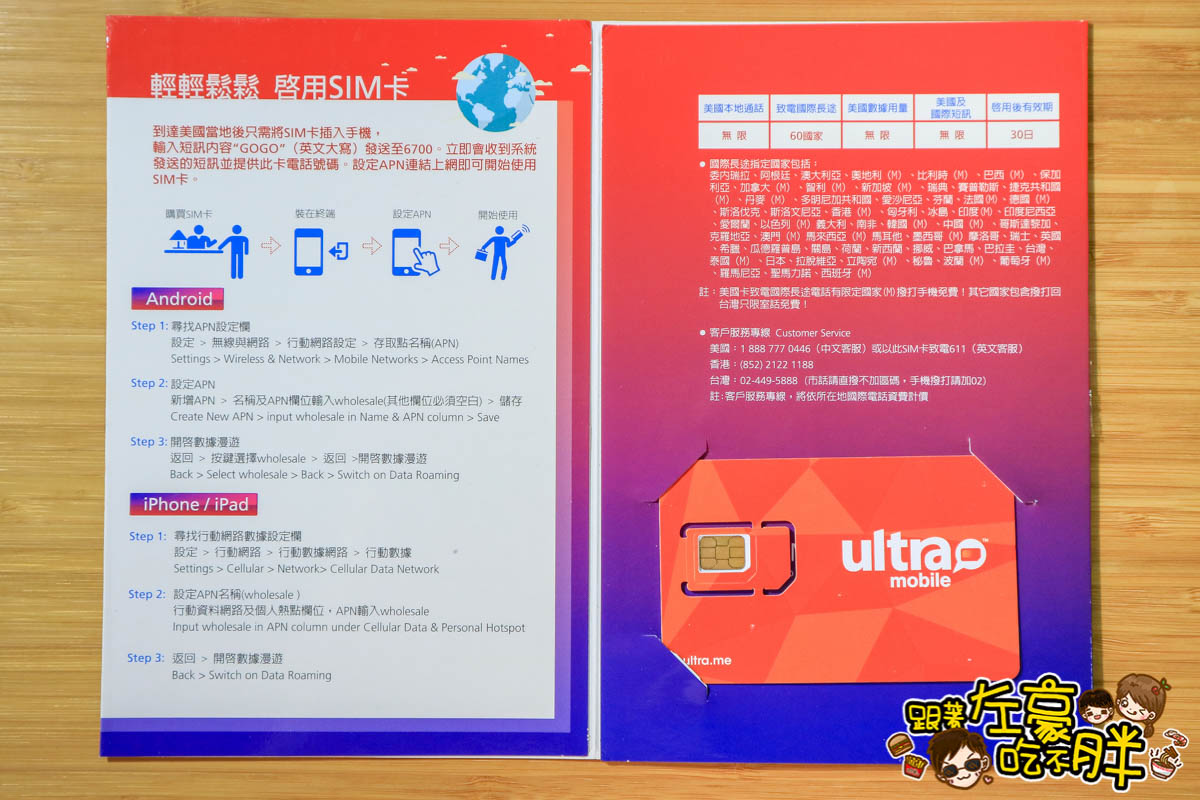 遠傳遠遊卡SIM卡(美國)-3
