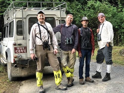 Michael Willison, me, Dinesh Giri, Tommy Pedersen.  Day one at Mount Pulchoki, Kathmandu.