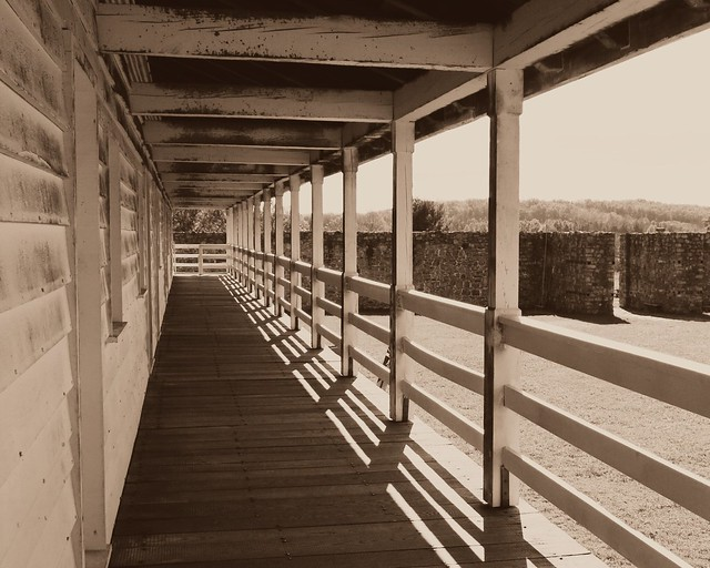 Ft Frederick SP ~ barracks porch view
