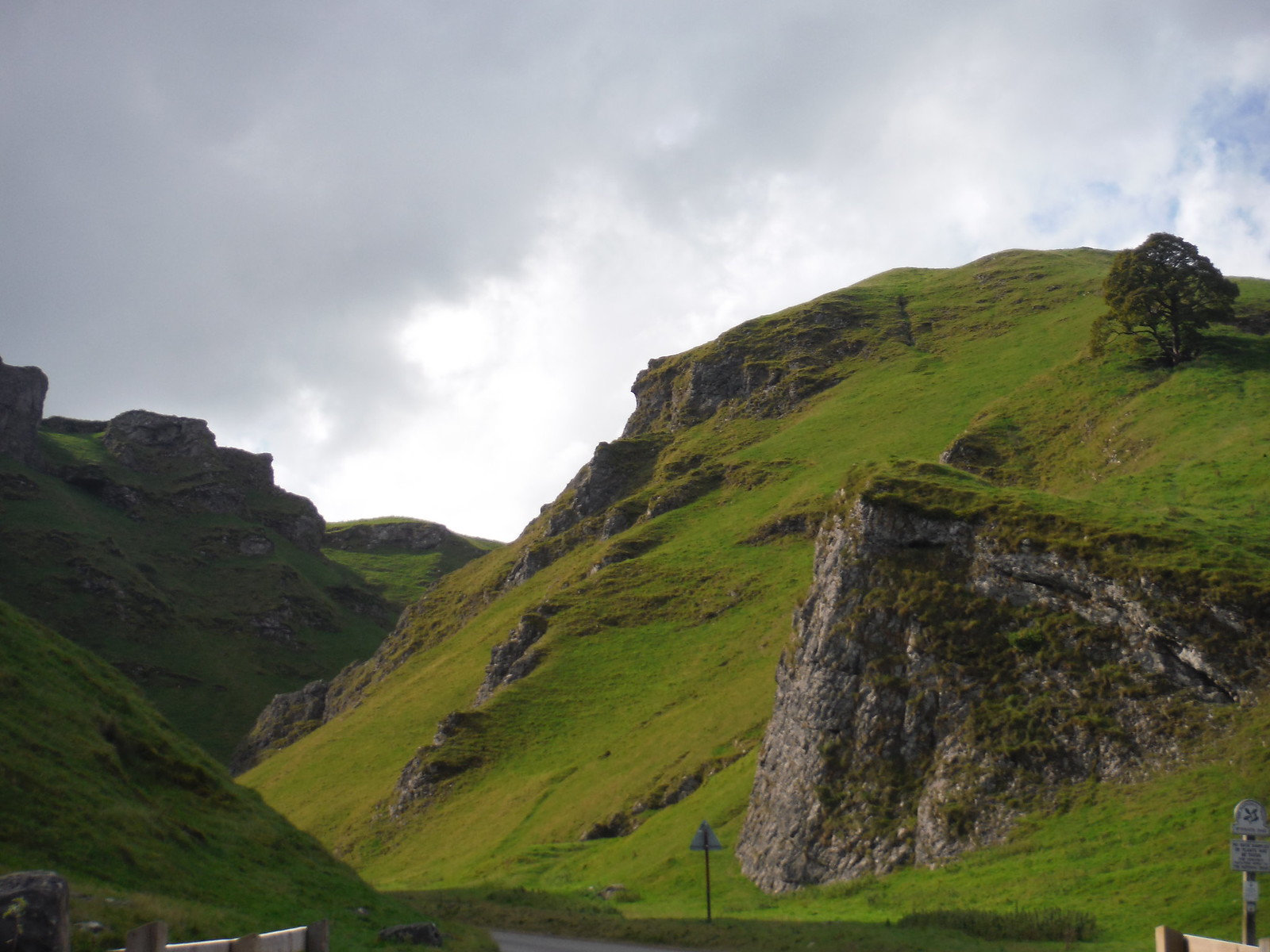 Winnats Pass, Lower End SWC Walk 302 - Bamford to Edale (via Win Hill and Great Ridge) [Castleton Alternatives]
