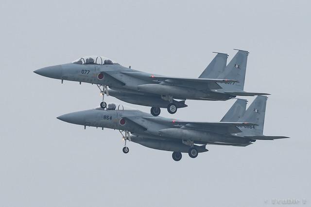 JASDF Chitose AB Airshow 2017 (10) 203SQ F-15J #077 & #864