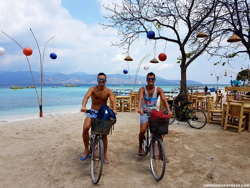 Bicicletas en Gili Trawangan