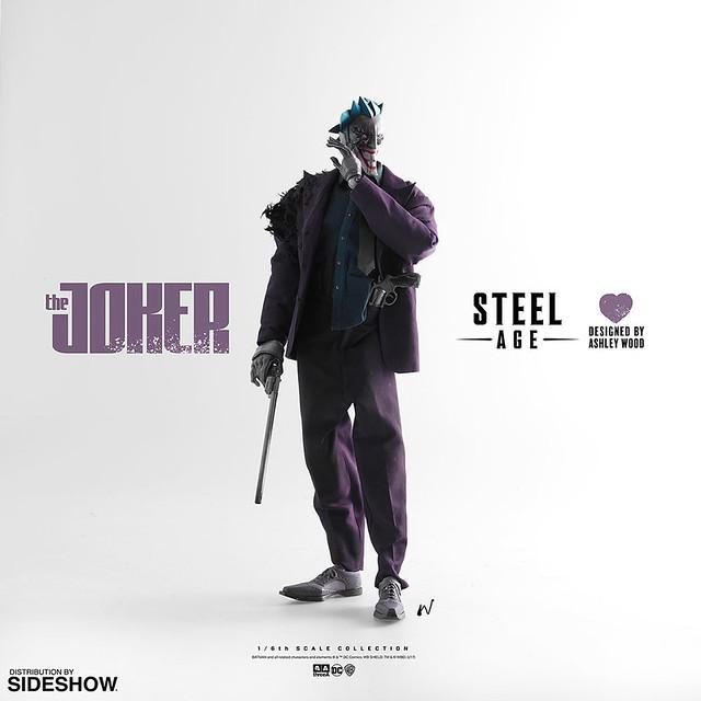 無止境的瘋狂! threeA – DC 漫畫系列【鋼鐵世代:小丑】Steel Age The Joker 1/6 比例人偶作品