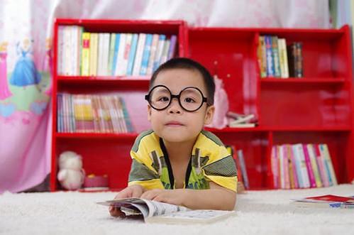 anak suka buku